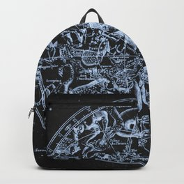 Ice on Black | Zodiac Skies & Astrological Ties Backpack