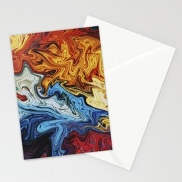 Night's Bright Colors - Color Liquid in Water Stationery Cards