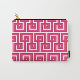Greek Key - Pink Carry-All Pouch