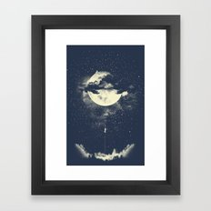 MOON CLIMBING Framed Art Print