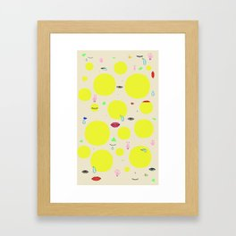 Boom print Framed Art Print