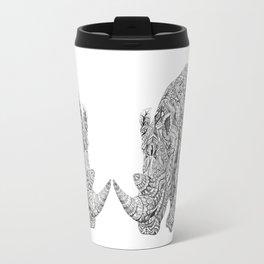 Aztec Rhino Art Travel Mug