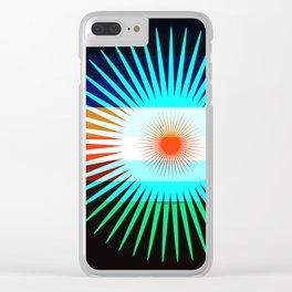 Sunset Bit Clear iPhone Case