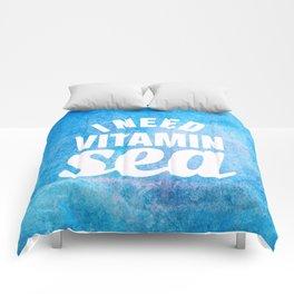 I Need Vitamin Sea Blue Comforters