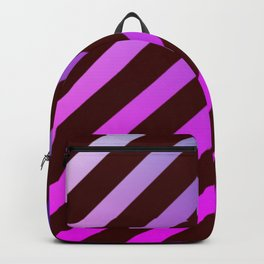 diagonal stripes pattern Backpack