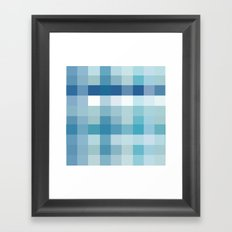 Pixelate Ocean Framed Art Print