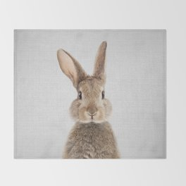 Rabbit - Colorful Throw Blanket