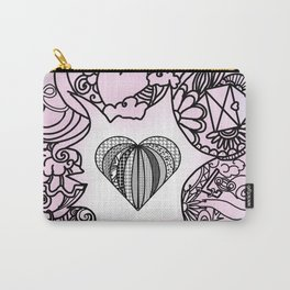 Love doodle . pink Carry-All Pouch