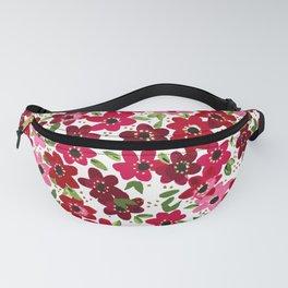Raspberry Flowers Fanny Pack