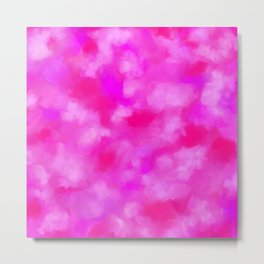 Passion Pink Valentines Abstract Metal Print