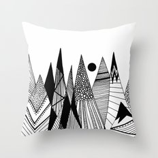 Patterns in the mountains II Throw Pillow