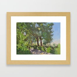Italian Countryside Landscape Painting Framed Art Print