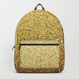 Gold Ombre Glitter Backpack