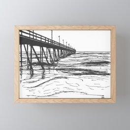 At the Pier Framed Mini Art Print