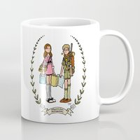 moonrise kingdom Mugs featuring Moonrise Kingdom  by Dueling Doodlers