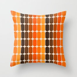 Golden Capsule Throw Pillow