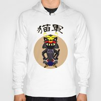 army Hoodies featuring Cat Army by BATKEI