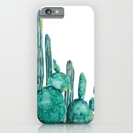 cactus jungle watercolor painting iPhone Case