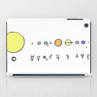 solar system iPad Cases featuring Solar System by Theo Leschevin
