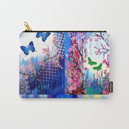 Rainbow Butterfly Carry-All Pouch