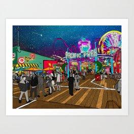 Pacific Park at the Santa Monica Pier Art Print