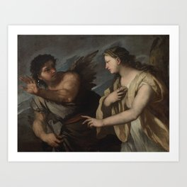 Luca Giordano, called Fa Presto NAPLES 1634 - 1705 PICUS AND CIRCE Art Print