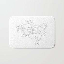 Pegasus And Angel Bath Mat
