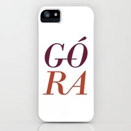 Gora iPhone Case