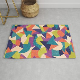 Trendy Abstract Geo Rug