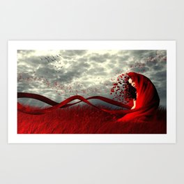 Red Wind Art Print