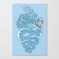 hello little dragon Canvas Print