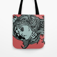 Phases of the Moon, Lady of the Sea Tote Bag