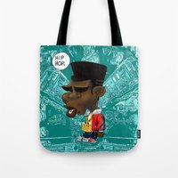 hip hop Tote Bags featuring Hip-Hop. by BbStarD