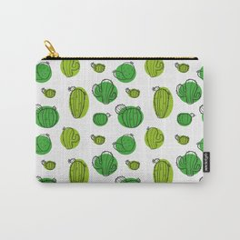Green Cactus pattern Carry-All Pouch
