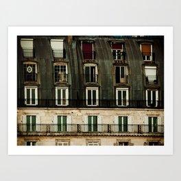 Parisian Windows. Art Print