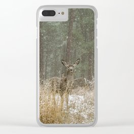 Deer at Keystone Clear iPhone Case
