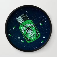 medicine Wall Clocks featuring Marvin's Medicine by Thomas Hy