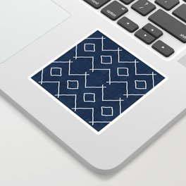 Bath in Navy Sticker