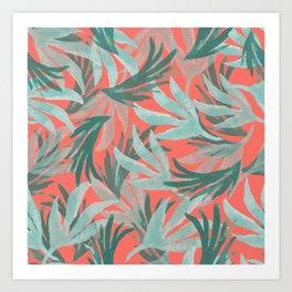 Pattern leaves forest Art Print