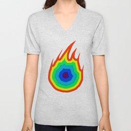 Inferno (Rainbow) Unisex V-Neck