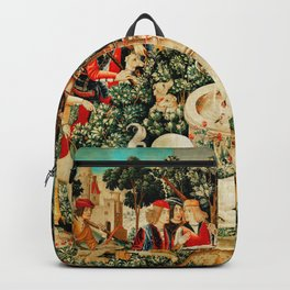 Hunt Of The Unicorn Medieval Tapestry Backpack