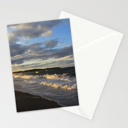 Evening Seascape Waves Stationery Cards