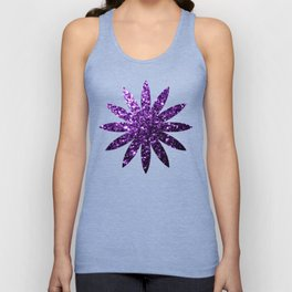 Beautiful Dark Purple glitter sparkles Unisex Tank Top