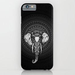 Aztec Circle Elephant iPhone Case