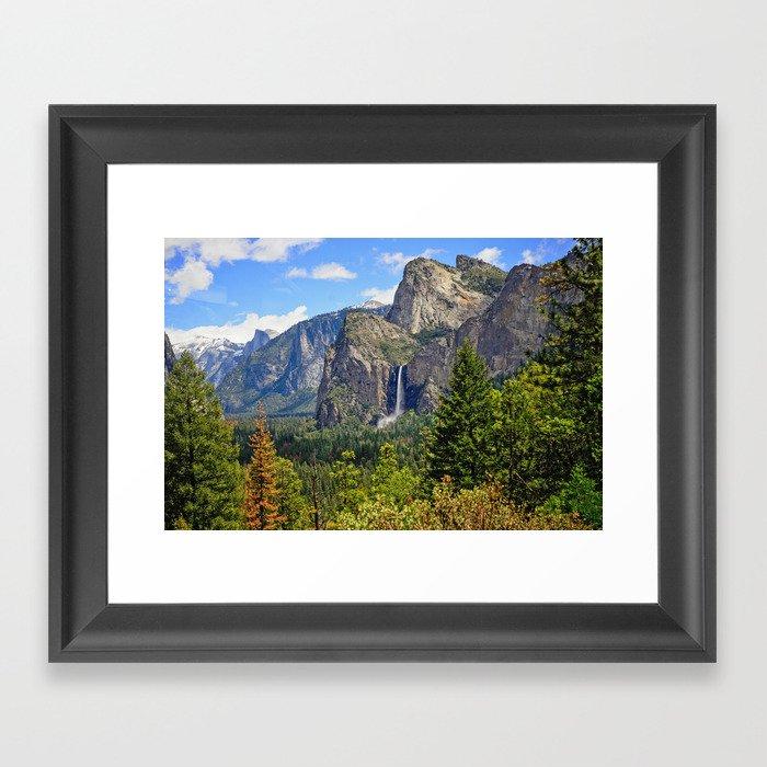 Bridaveil Falls Framed Art Print