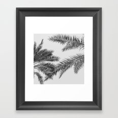 simply palm leaves Framed Art Print