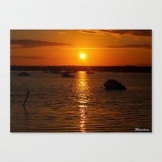 Sunset Over Sandbanks Canvas Print