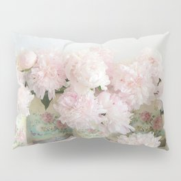 Shabby Chic Dreamy Pastel Peonies Floral Home Decor Pillow Sham