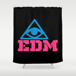 EDM rave logo Shower Curtain