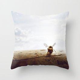 unbearable lightness of bee-ing Throw Pillow